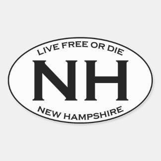 Sticker Ovale NH - Le New Hampshire