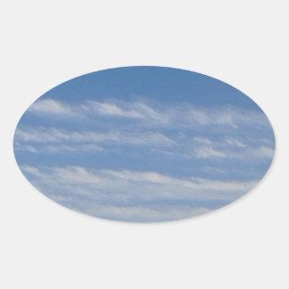 Sticker Ovale Nuages mélangés