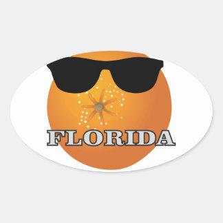 Sticker Ovale nuances de la Floride