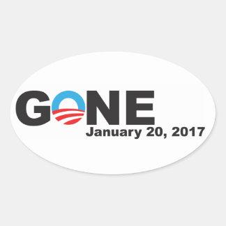 Sticker Ovale Obama allé, 2017
