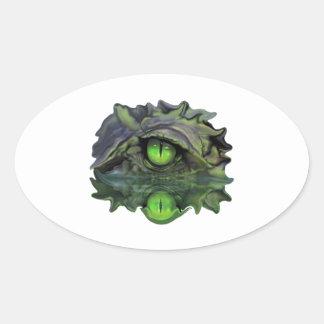 Sticker Ovale Oeil reptile