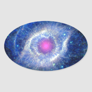 Sticker Ovale Oeil ultra-violet de nébuleuse d'hélice de photo