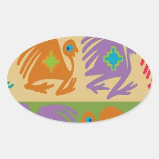 Sticker Ovale Oiseaux péruviens