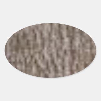 Sticker Ovale ondulations de l'écorce blanche