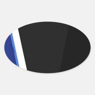 Sticker Ovale Ordinateur de comprimé sur le blanc