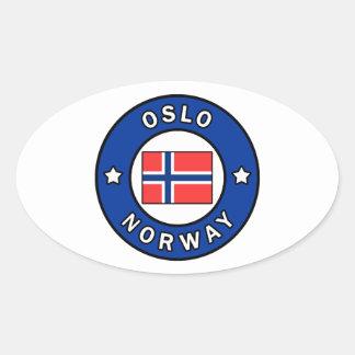 Sticker Ovale Oslo Norvège