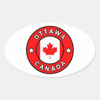 Sticker Ovale Ottawa Canada