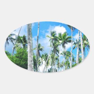 Sticker Ovale Paradis dans le Pacifique