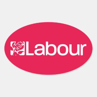 Sticker Ovale Parti travailliste R-U