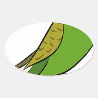 Sticker Ovale Perruche