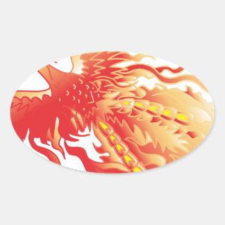 Sticker Ovale Phoenix