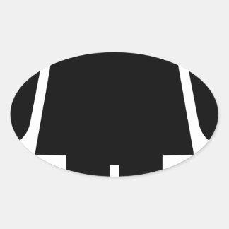 Sticker Ovale Pictogramme de femme