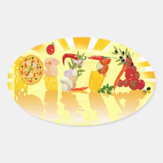 Sticker Ovale Pizza de soleil