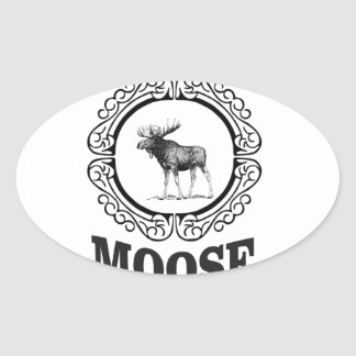 Sticker Ovale plus d'anneau d'orignaux