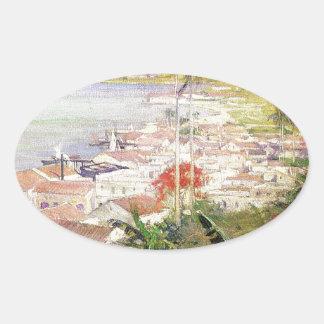 Sticker Ovale Port de La Havane