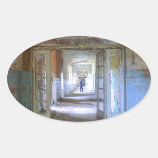Sticker Ovale Portes et couloirs 03,0, endroits perdus, Beelitz