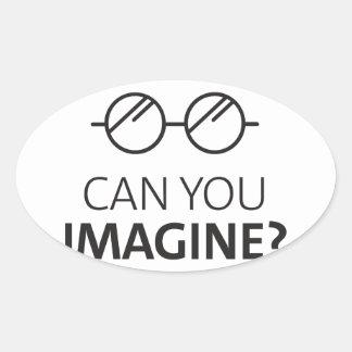 Sticker Ovale Pouvez vous imaginer la chanson anglaise de John