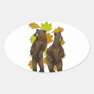 Sticker Ovale Précipitation d'automne