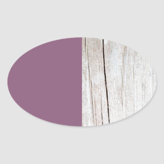 Sticker Ovale Purple + Wood