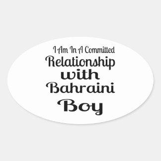 Sticker Ovale Rapport avec le garçon bahreinite
