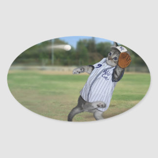 Sticker Ovale Receveur de chat dans les extra-champs !