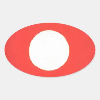 Sticker Ovale Regard fixe chez le Sun