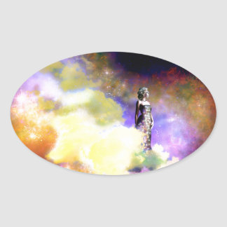 Sticker Ovale Reine de l'univers