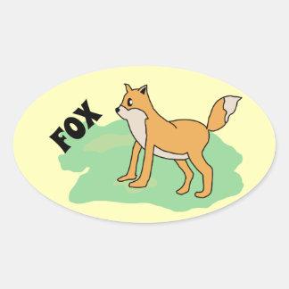 Sticker Ovale renard dans le domaine
