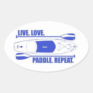 Sticker Ovale Répétition vivante de palette d'amour
