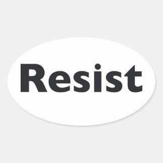 Sticker Ovale résistez