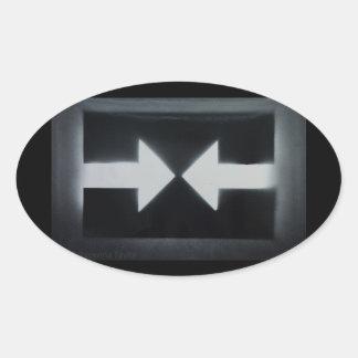 """Sticker Ovale """"résistez"""" à l'autocollant"""
