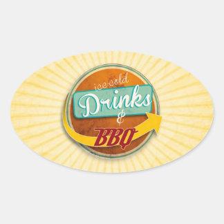 Sticker Ovale Retro-Aufkleber oval style d'année cinquante
