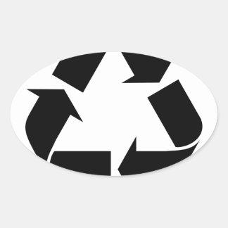Sticker Ovale Réutilisez le symbole
