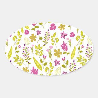 Sticker Ovale Rêve de fleur fraîche
