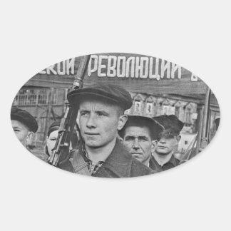 Sticker Ovale Révolution d'octobre