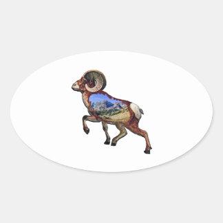 Sticker Ovale Roche et promenade