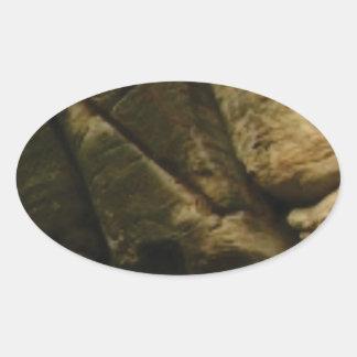 Sticker Ovale roches grises de grondement