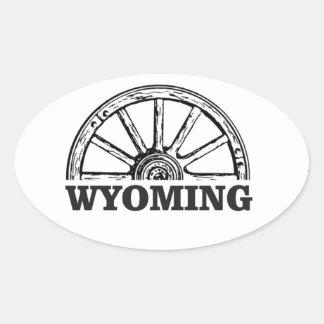 Sticker Ovale roue du Wyoming