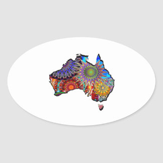 STICKER OVALE ROYAUME AUSTRALIEN