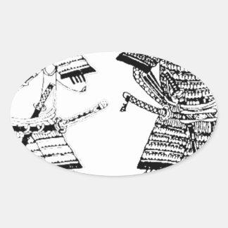 Sticker Ovale Samouraï