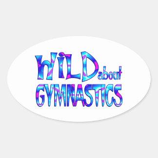 Sticker Ovale Sauvage au sujet de la gymnastique