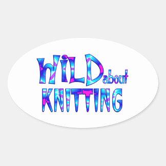 Sticker Ovale Sauvage au sujet du tricot