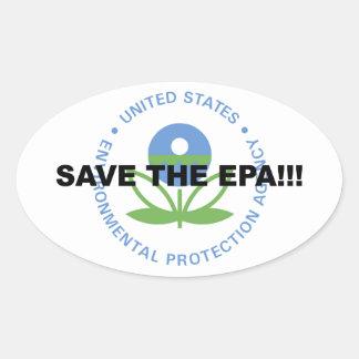 Sticker Ovale Sauvez l'EPA