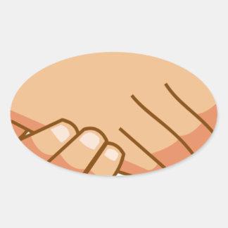 Sticker Ovale Se serrer la main