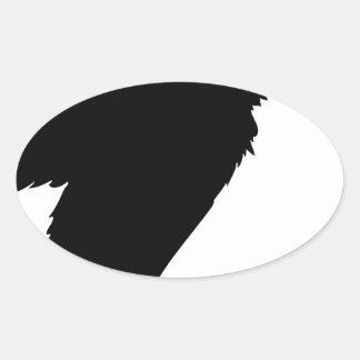 Sticker Ovale Séance de vautour