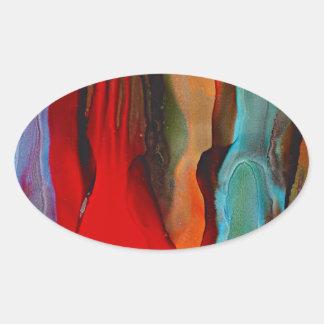 Sticker Ovale Sentinelles de désert