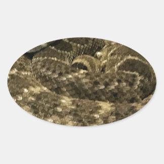 Sticker Ovale Serpent enroulé