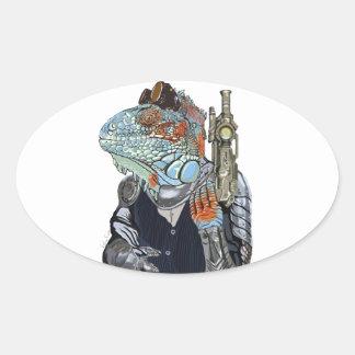 Sticker Ovale Shérif de dragon de vapeur
