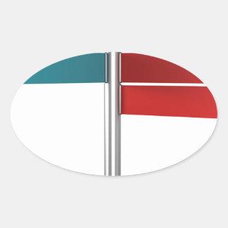 Sticker Ovale Signaux de direction