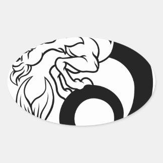 Sticker Ovale Signe de zodiaque de Capricorne d'horoscope